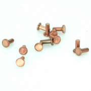 "Copper Rivet, Flat Head 1/16"" x 5/16"" 25 pk"