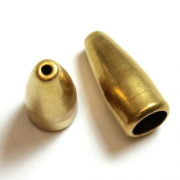 Brass Bullet End Cap 17mm 6/pk