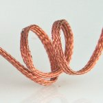 "Woven Copper Braid 1/8"" by the foot"