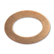 "Copper Oval Washer 7/8"" 2 pk"