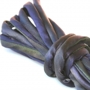Hand Dyed Silk Cord Eggplant & Olives Silk Satin 1/4 inch