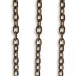 Vintaj Small 2.8mm Etched Cable Chain 2ft CH007