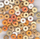 Tuscan Color Mix - 8mm Washer Greek Matte Ceramic Beads - Large Holed Bead (100)