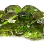 Chrome Tourmaline Beads Faceted Ovals, 4x3-9x6m