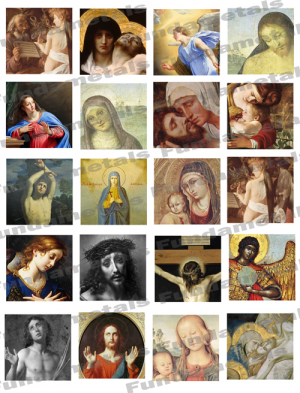 Religious Icons Images Digital Collage Sheet