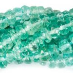 "Apatite, Blue/Green Faceted Rondelle Beads, 2.5-3mm dia, 7"" strand"