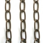 Vintaj 5.5mm Elongated Oval Brass Chain CH110