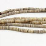 3mm Heishi GREEN OYSTER SHELL 1 Strand