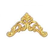 Filligree Floral Corner, Raw Brass 1/PK