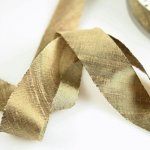 "Silk Ribbon Bias Cut - 3/4"" Mica Bronze"