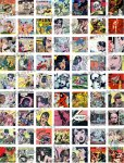 Comic Book Square Digital Collage Sheet