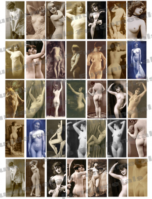 Vintage Erotic Photos Images Digital Collage Sheet