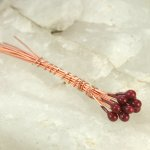 Enameled Headpins - Cranberry/Brown