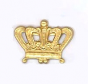 Regal Crown, Raw Brass 1/PK