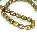 "Golden Yellow Rice Pearls 3.5 - 5.7mm 16"" strand"