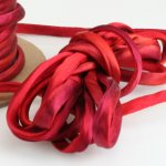 Hand Dyed Silk Cord Hot Flash Silk Satin 1/4 inch