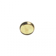 Brass High Wall Bezel Cup 13mm Round 6/pk