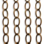 Vintaj 5.5 x 8mm Fine Oval Chain 2 ft CH20