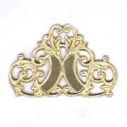 Mirror Image Scroll Filigree, Raw Brass, PK/1
