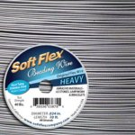 Soft Flex Beading Wire .024 Satin Silver (heavy) 30ft