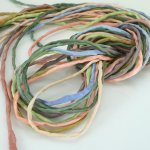 2mm Silk String Bundles Hand Dyed Desert Sky Mix 10 ea