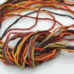 2mm Silk String Bundles Hand Dyed Warm Tone Bundle 10 ea
