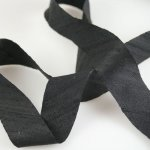 "Silk Ribbon Bias Cut - 3/4"" Black"