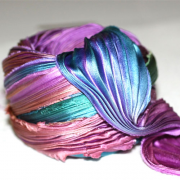 Shibori Ribbon Purple Passion Borealis - Shibori Girl Studio