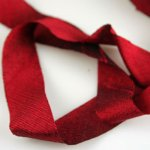 "Silk Ribbon Bias Cut - 3/4"" Corazon Red"