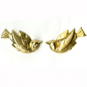 Large Swallow Right and Left Brass 1 pr