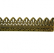Arched Perforated Stamped Brass Banding 12""