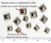 Mystery Metal Button Shank Mini Picture Frame