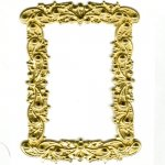Large Rectangle Brass Filligree Frame 1 ea