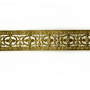 "1"" Floral Bordered Style Brass Banding 6"""