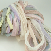 Fairy Ribbon 10 ea Light Tones of Silk Hand Dyed Jewelry Cord