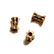 Brass Bead Hourglass, 5.5x4mm 12/pk