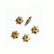 Tiny Brass Flower Spacer Bead 3.5mm 24/pk