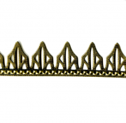 Peaked Perforated Stamped Brass Banding 12""