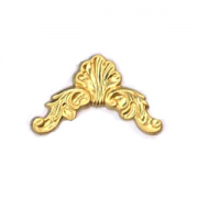 Filligree Shell Corner, Raw Brass 2/PK