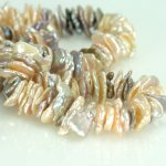 "Multi Color Keishi Chip Pearls 9-10mm 8"" strand"