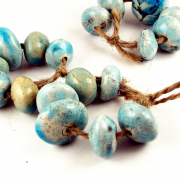 Happy Fallout - Turquoise Round - 6 bead set
