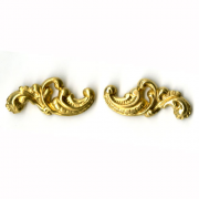 Scroll Right and Left Filligree Brass 1 pr