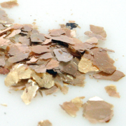 Mica Flakes 1 oz Jar Gold Flake Large