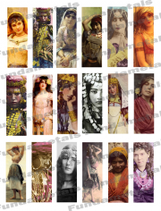 Vintage Gypsy Images Digital Collage Sheet
