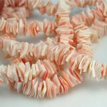 5 - 7mm Pinkrose Crazycut Fragum Shell Beads 70-80 pcs.