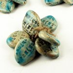 Happy Fallout - Worded Leaves - 6 bead set