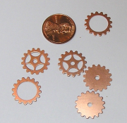 Copper Gear Mix (6 Pieces) Small 16mm