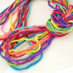 2mm Silk String Bundles Hand Dyed Rainbow Fiesta Bundle