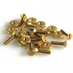 "Mini Nuts & Screws Flat Heads (Brass) 0-80 X 1/4"" 20/pk"