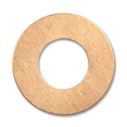 "Copper Circle Washer 1"" ID 12.5mm 2 pk"